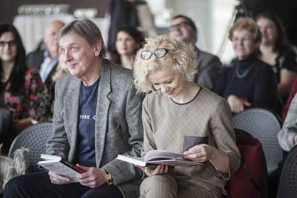 Aktieri Juris Lisners un Dita Lūriņa
